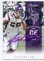 JARED ALLEN MINNESOTA VIKINGS AUTOGRAPHED FOOTBALL CARD #10616G