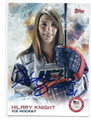 HILARY KNIGHT OLYMPIC ICE HOCKEY AUTOGRAPHED CARD #10715G