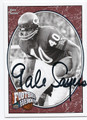 GALE SAYERS CHICAGO BEARS AUTOGRAPHED FOOTBALL CARD #10816K