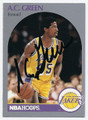 AC GREEN LOS ANGELES LAKERS AUTOGRAPHED BASKETBALL CARD #10916A