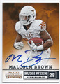 MALCOLM BROWN UNIVERSITY OF TEXAS AUTOGRAPHED ROOKIE FOOTBALL CARD #10916C