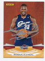 SHAQUILLE O'NEAL CLEVELAND CAVALIERS AUTOGRAPHED BASKETBALL CARD #10916F