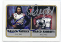 DANICA PATRICK & MARCO ANDRETTI DOUBLE AUTOGRAPHED RACING CARD