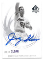 JERRY SLOAN EVANSVILLE PURPLE ACES AUTOGRAPHED BASKETBALL CARD #11116D