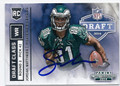 JORDAN MATTHEWS PHILADELPHIA EAGLES AUTOGRAPHED ROOKIE FOOTBALL CARD #11116E