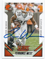 TERRANCE WEST CLEVELAND BROWNS AUTOGRAPHED FOOTBALL CARD #11116H