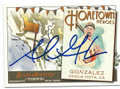 ADRIAN GONZALEZ BOSTON RED SOX AUTOGRAPHED BASEBALL CARD #11116K