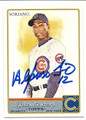 ALFONSO SORIANO CHICAGO CUBS AUTOGRAPHED BASEBALL CARD #11216C