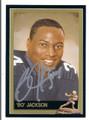 BO JACKSON AUTOGRAPHED HEISMAN TROPHY FOOTBALL CARD #11216E