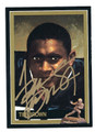 TIM BROWN NOTRE DAME FIGHTING IRISH AUTOGRAPHED HEISMAN TROPHY FOOTBALL CARD #11216i