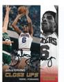 JULIUS ERVING PHILADELPHIA 76ers AUTOGRAPHED BASKETBALL CARD #11216L