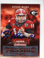 HUTSON MASON UNIVERSITY OF GEORGIA BULLDOGS AUTOGRAPHED ROOKIE FOOTBALL CARD #11316F