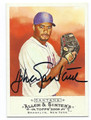 JOHAN SANTANA NEW YORK METS AUTOGRAPHED BASEBALL CARD #11516F
