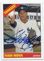 IVAN NOVA NEW YORK YANKEES AUTOGRAPHED BASEBALL CARD #11616F