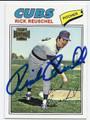 RICK REUSCHEL CHICAGO CUBS AUTOGRAPHED BASEBALL CARD #11716G