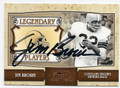 JIM BROWN CLEVELAND BROWNS AUTOGRAPHED & NUMBERED FOOTBALL CARD #11816D