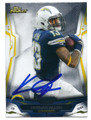 KEENAN ALLEN SAN DIEGO CHARGERS AUTOGRAPHED FOOTBALL CARD #11816E
