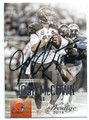 JOSH McCOWN CLEVELAND BROWNS AUTOGRAPHED FOOTBALL CARD #11916A