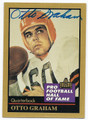 OTTO GRAHAM CLEVELAND BROWNS AUTOGRAPHED FOOTBALL CARD #11916F