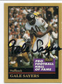 GALE SAYERS CHICAGO BEARS AUTOGRAPHED HALL OF FAME FOOTBALL CARD #12016G