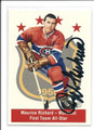 MAURICE RICHARD MONTREAL CANADIENS AUTOGRAPHED HOCKEY CARD #12116B