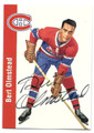 BERT OLMSTEAD MONTREAL CANADIENS AUTOGRAPHED HOCKEY CARD #12116H