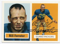 BILL FORESTER GREEN BAY PACKERS AUTOGRAPHED FOOTBALL CARD #12116i
