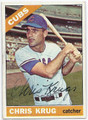 CHRIS KRUG CHICAGO CUBS AUTOGRAPHED BASEBALL CARD #12116K