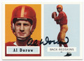 AL DOROW WASHINGTON REDSKINS AUTOGRAPHED FOOTBALL CARD #12316C