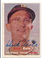 DICK COLE PITTSBURGH PIRATES AUTOGRAPHED VINTAGE BASEBALL CARD #12316E