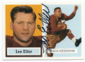 LEO ELTER WASHINGTON REDSKINS AUTOGRAPHED FOOTBALL CARD #12316K