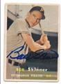 BOB SKINNER PITTSBURGH PIRATES AUTOGRAPHED VINTAGE BASEBALL CARD #12416F