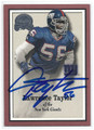 LAWRENCE TAYLOR NEW YORK GIANTS AUTOGRAPHED FOOTBALL CARD #12516D