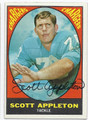 SCOTT APPLETON SAN DIEGO CHARGERS AUTOGRAPHED VINTAGE FOOTBALL CARD #12616G