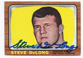 STEVE DeLONG SAN DIEGO CHARGERS AUTOGRAPHED VINTAGE FOOTBALL CARD #12616L