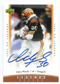 ICKEY WOODS CINCINNATI BENGALS AUTOGRAPHED FOOTBALL CARD #12716L