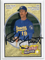 ROBIN YOUNT MILWAUKEE BREWERS AUTOGRAPHED BASEBALL CARD #12816E