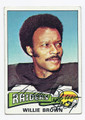 WILLIE BROWN OAKLAND RAIDERS AUTOGRAPHED VINTAGE FOOTBALL CARD #12816J