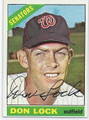 DON LOCK WASHINGTON SENATORS AUTOGRAPHED VINTAGE BASEBALL CARD #12916B