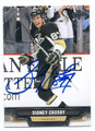 SIDNEY CROSBY PITTSBURGH PENGUINS AUTOGRAPHED HOCKEY CARD #12916G