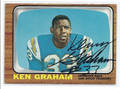 KEN GRAHAM SAN DIEGO CHARGERS AUTOGRAPHED VINTAGE FOOTBALL CARD #12916J