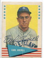 EARL AVERILL CLEVELAND INDIANS AUTOGRAPHED VINTAGE BASEBALL CARD #13016A