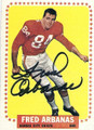 FRED ARBANAS KANSAS CITY CHIEFS AUTOGRAPHED VINTAGE FOOTBALL CARD #13016J