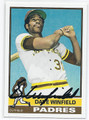 DAVE WINFIELD SAN DIEGO PADRES AUTOGRAPHED BASEBALL REPRINT CARD #13016K