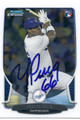 YASIEL PUIG LOS ANGELES DODGERS AUTOGRAPHED ROOKIE BASEBALL CARD #13116G