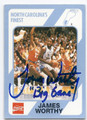 JAMES WORTHY NORTH CAROLINA TAR HEELS AUTOGRAPHED BASKETBALL CARD #13116J