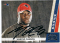 MARCUS CANNON NEW ENGLAND PATRIOTS AUTOGRAPHED ROOKIE FOOTBALL CARD #20116C