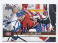 TOMAS PLEKANEC MONTREAL CANADIENS AUTOGRAPHED HOCKEY CARD #20116i