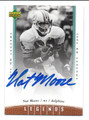 NAT MOORE MIAMI DOLPHINS AUTOGRAPHED FOOTBALL CARD #20116J