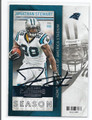 JONATHAN STEWART CAROLINA PANTHERS AUTOGRAPHED FOOTBALL CARD #20216A